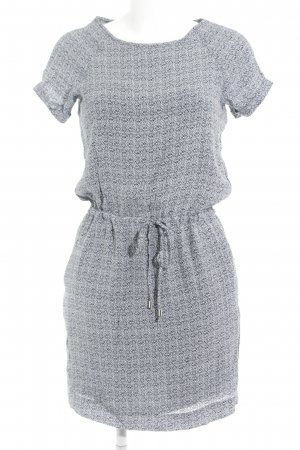 Tom Tailor Kurzarmkleid hellgrau abstraktes Muster Casual-Look