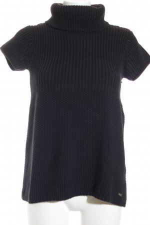 Tom Tailor Kurzarmpullover schwarz Casual-Look