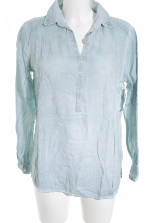 Tom Tailor Langarm-Bluse blassblau Casual-Look