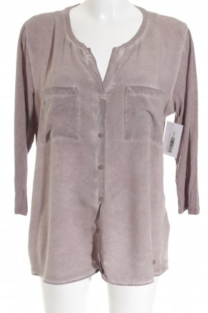 Tom Tailor Langarm-Bluse blasslila schlichter Stil