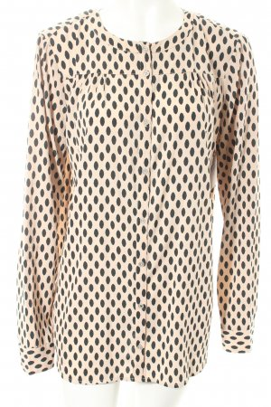 Tom Tailor Langarm-Bluse creme-waldgrün Punktemuster Casual-Look