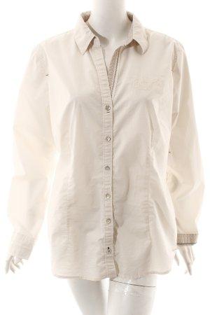 Tom Tailor Langarm-Bluse creme-wollweiß sportlicher Stil