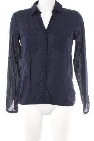 Tom Tailor Langarm-Bluse dunkelblau Casual-Look