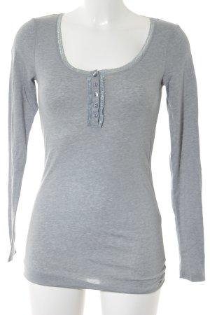 Tom Tailor Langarm-Bluse graugrün Casual-Look