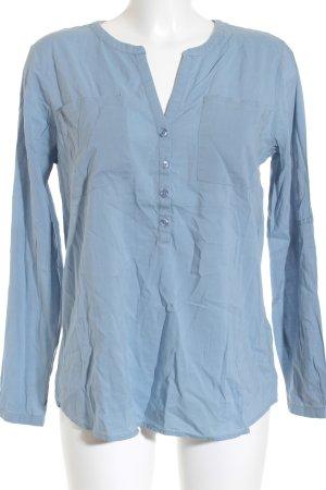 Tom Tailor Langarm-Bluse hellblau Casual-Look