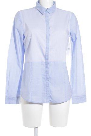 Tom Tailor Langarm-Bluse himmelblau-hellblau Logo-Applikation