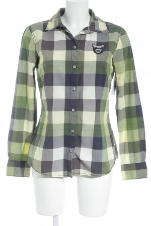 Tom Tailor Langarm-Bluse Karomuster schlichter Stil