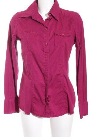 Tom Tailor Langarm-Bluse magenta klassischer Stil