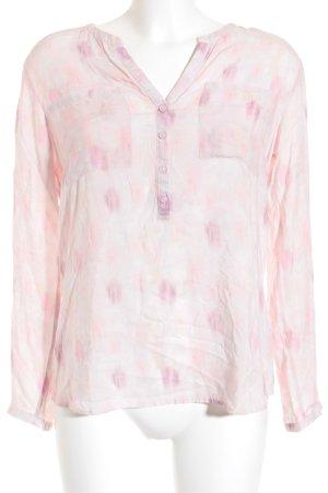 Tom Tailor Langarm-Bluse mehrfarbig Transparenz-Optik