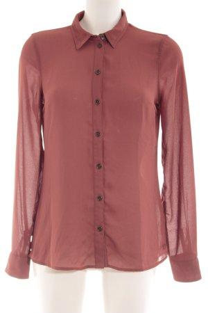 Tom Tailor Langarm-Bluse rostrot klassischer Stil