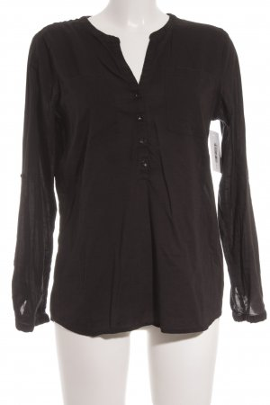 Tom Tailor Langarm-Bluse schwarz Casual-Look