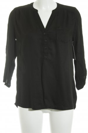 Tom Tailor Langarm-Bluse schwarz Casual-Look