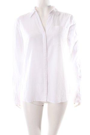 Tom Tailor Langarm-Bluse weiß