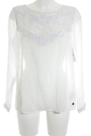Tom Tailor Langarm-Bluse weiß Casual-Look