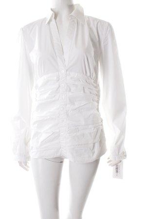 Tom Tailor Langarm-Bluse weiß extravaganter Stil