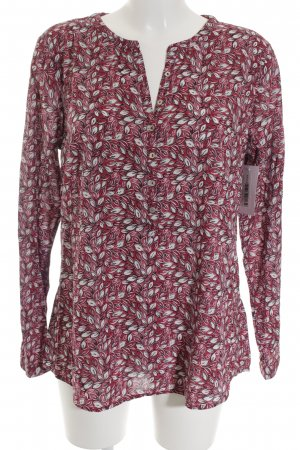 Tom Tailor Langarm-Bluse weiß-magenta florales Muster Casual-Look