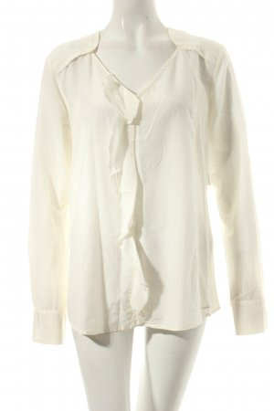 Tom Tailor Langarm-Bluse wollweiß schlichter Stil