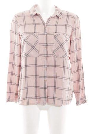 Tom Tailor Camicia a maniche lunghe rosa-grigio chiaro stampa integrale