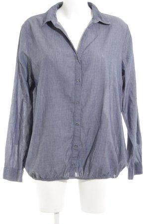 Tom Tailor Langarmhemd blau meliert klassischer Stil
