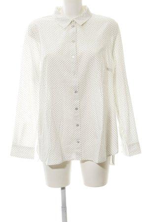 Tom Tailor Langarmhemd weiß-schwarz Punktemuster Business-Look