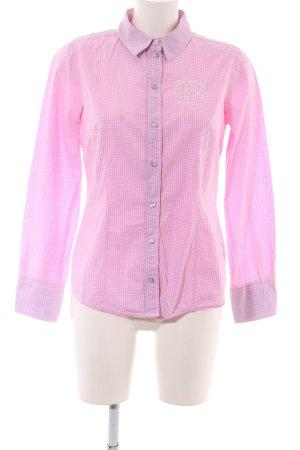 Tom Tailor Langarmhemd pink-weiß Karomuster Business-Look