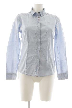 Tom Tailor Langarmhemd himmelblau Schriftzug gestickt Casual-Look