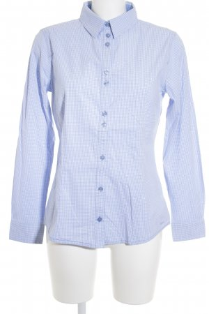 Tom Tailor Long Sleeve Shirt white-azure check pattern casual look