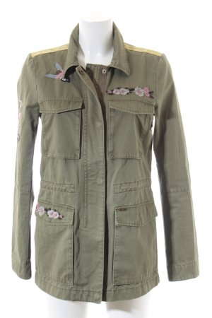 Tom Tailor Long Jacket green grey abstract pattern casual look