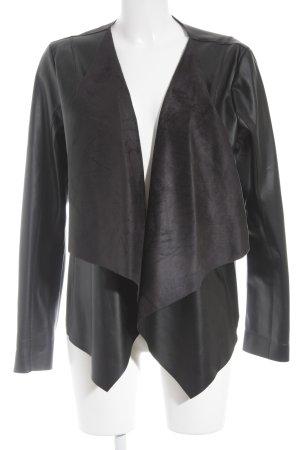 Tom Tailor Leather Blazer black biker look