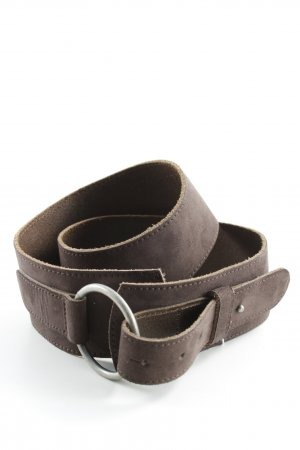 Tom Tailor Leather Belt dark brown casual look