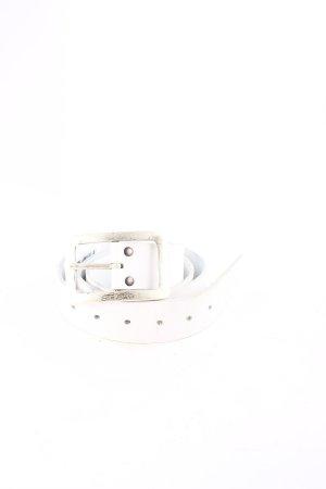 Tom Tailor Ledergürtel weiß-silberfarben Casual-Look