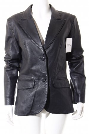 Tom Tailor Lederjacke schwarz Retro-Look