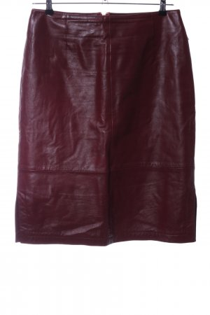 Tom Tailor Leather Skirt red casual look