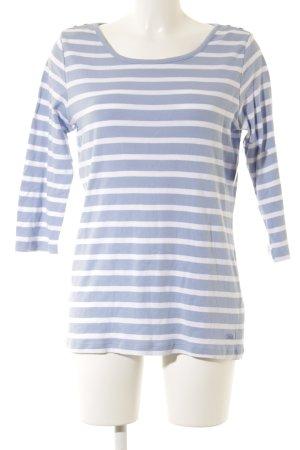Tom Tailor Longsleeve himmelblau-weiß Streifenmuster Casual-Look