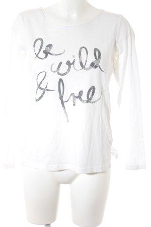 Tom Tailor Longsleeve weiß Schriftzug gedruckt Street-Fashion-Look