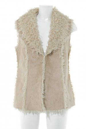 Tom Tailor Long Knitted Vest camel-nude '70s style