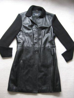 tom tailor mantel leder strick schwarz gr s 36