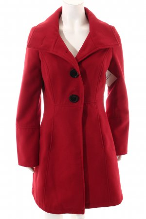Tom Tailor Mantel rot-schwarz klassischer Stil