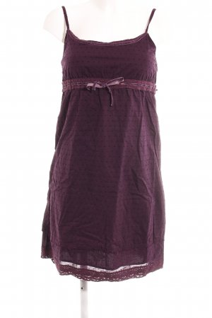 Tom Tailor Minikleid braunviolett Punktemuster Casual-Look