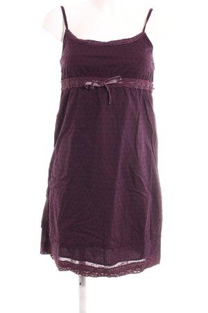Tom Tailor Minikleid braunviolett Punktemuster Casual-Look