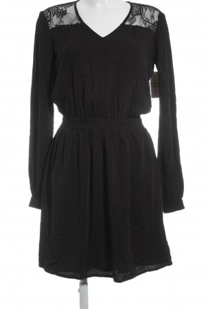 Tom Tailor Mini vestido negro estampado floral elegante