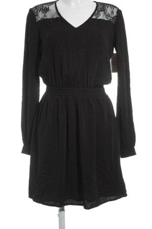 Tom Tailor Mini Dress black floral pattern elegant