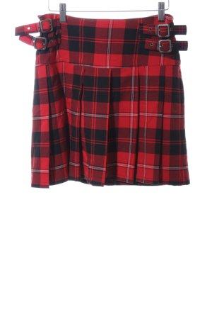 Tom Tailor Mini-jupe rouge-noir imprimé allover style décontracté