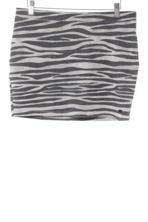 Tom Tailor Minirock schwarz-hellgrau Animalmuster schlichter Stil