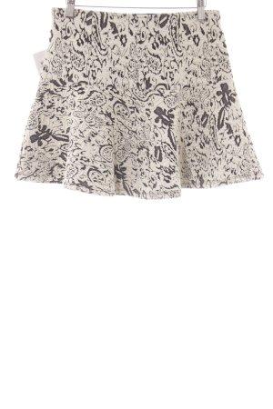 Tom Tailor Mini-jupe noir-blanc motif floral style décontracté