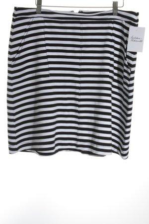 Tom Tailor Minirock schwarz-weiß Streifenmuster Casual-Look