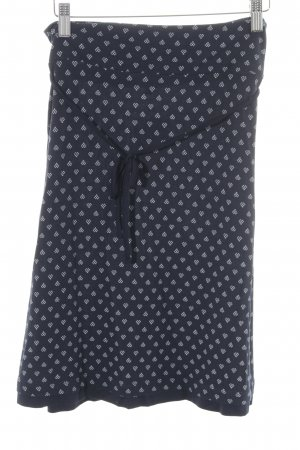 Tom Tailor Minirock weiß-dunkelblau Punktemuster Casual-Look
