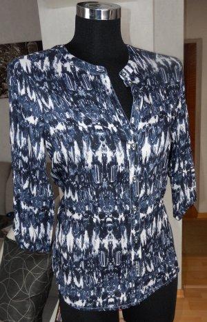 Tom Tailor NEU Bluse Hemdbluse kragenlos blau-weiß XS