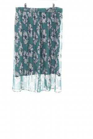 Tom Tailor Pleated Skirt flower pattern casual look