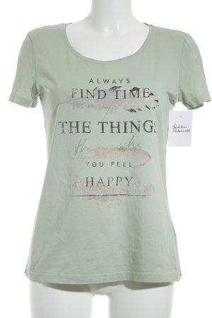 Tom Tailor Print-Shirt hellgrün Motivdruck Casual-Look